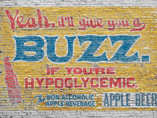 Apple Beer Print Ad -  Buzz