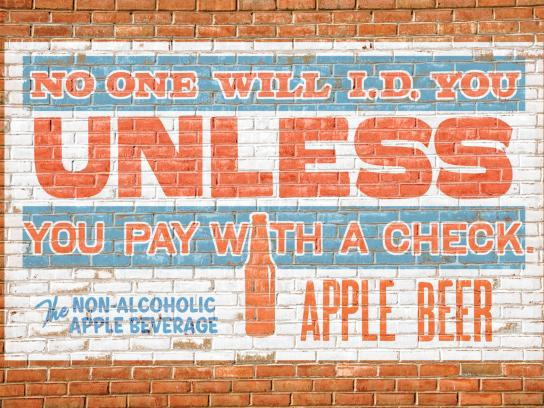 Apple Beer Print Ad -  Check