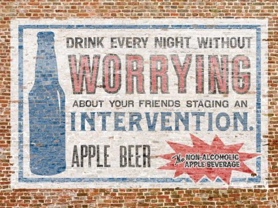 Apple Beer Print Ad -  Intervention