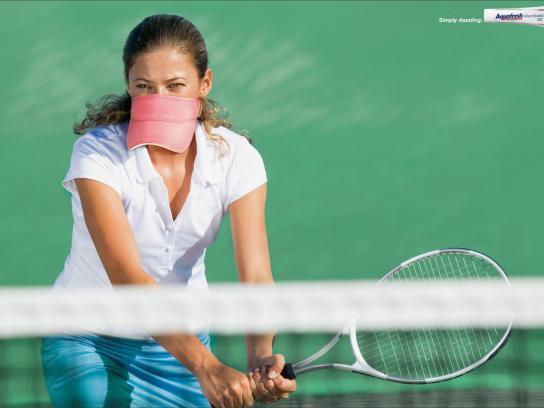 Aquafresh Print Ad -  Tennis