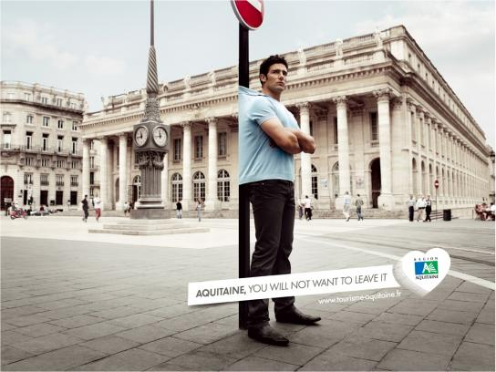 Aquitaine Print Ad -  You will not want to leave it, 4