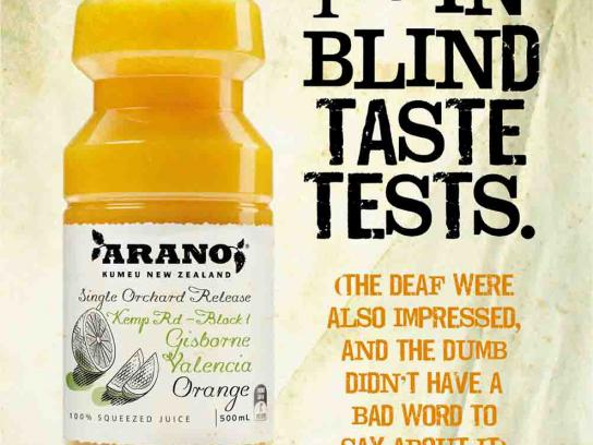 Arano Print Ad -  Blind taste test