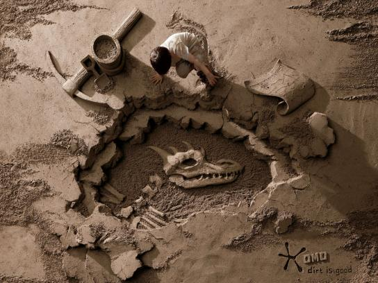 OMO Print Ad -  Archaeologist