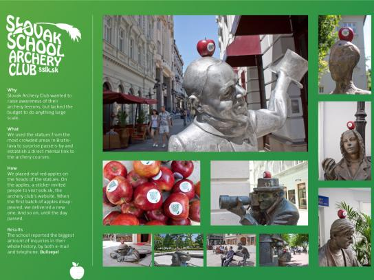 Slovak School Archery Club Ambient Ad -  Statues