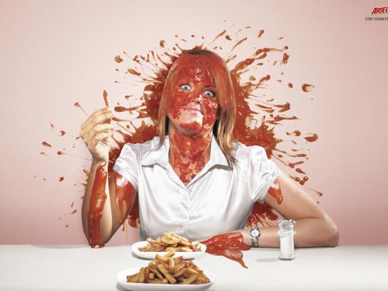 Ariel Print Ad -  Ketchup