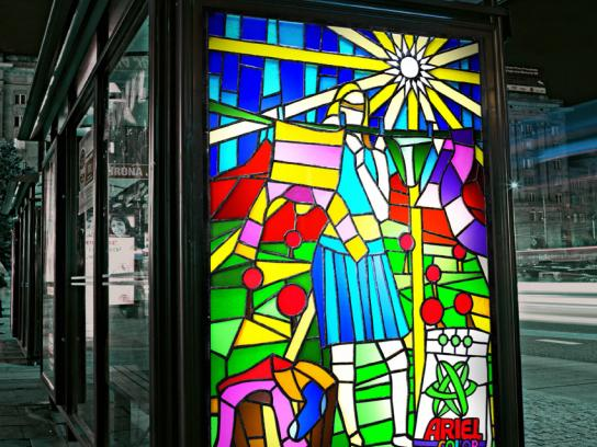 Ariel Ambient Ad -  Stained glass windows, 3