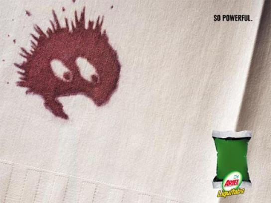 Ariel Print Ad -  Scared stain
