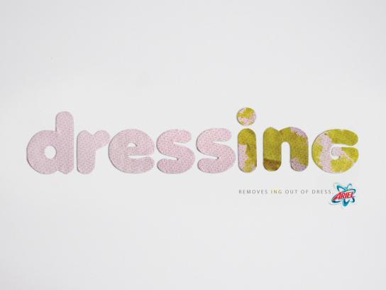 Ariel Print Ad -  Dressing