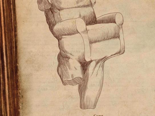 MBike Magazine Print Ad -  Pathology of modern man, Armchairitis