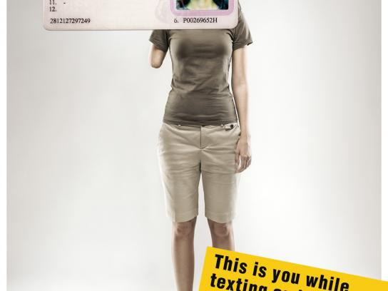 Bucharest's City Police Print Ad -  Armless