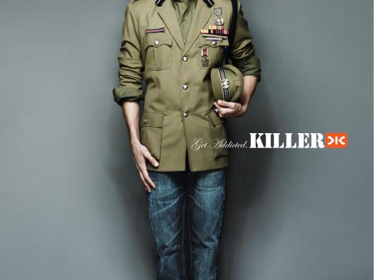 Killer Jeans Print Ad -  Army Officer