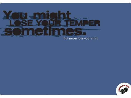 Arnold's Gym Print Ad -  Temper
