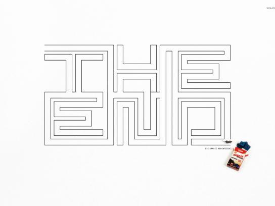 Arraze Print Ad -  The end