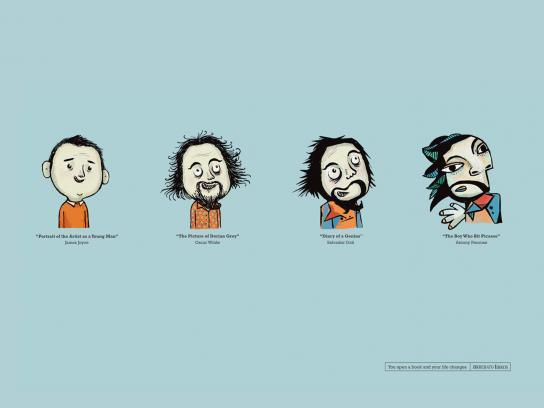 Arrebato Books Print Ad -  Caricatures, 1