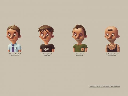 Arrebato Books Print Ad -  Caricatures, 2
