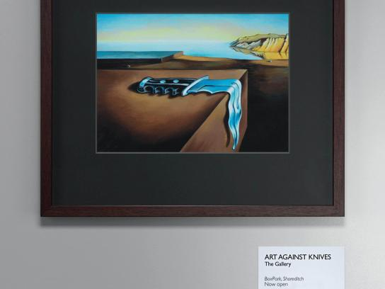 Art Against Knives Print Ad -  Dali knife