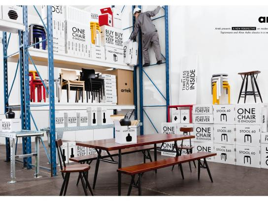 Artek Print Ad -  Packaging room