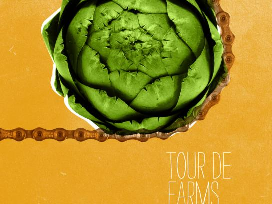 Braise Local Food Print Ad -  Tour de Farms, Artichoke chain