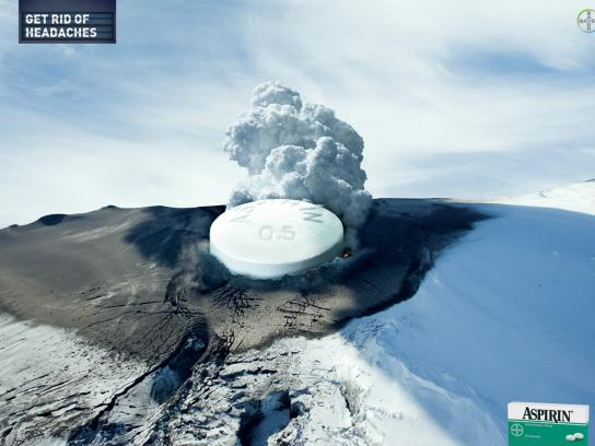 Aspirin Print Ad -  Volcano