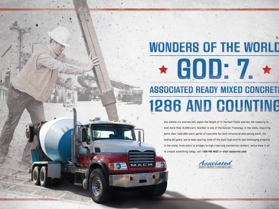 Associated Ready Mixed Concrete Print Ad -  God