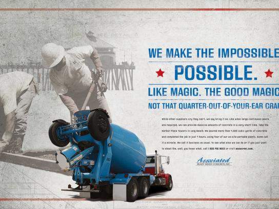 Associated Ready Mixed Concrete Print Ad -  Magic