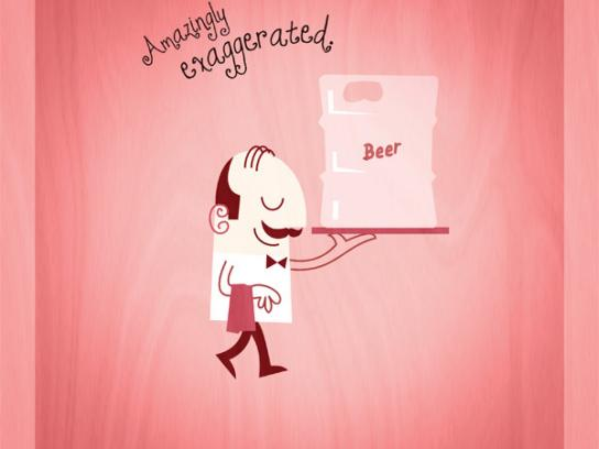 Ataliba Steakhouse Print Ad -  Beer