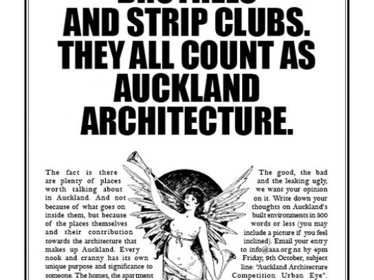 Auckland Architecture Association Print Ad -  They all count