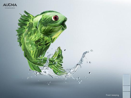 Aucma Print Ad -  Fish