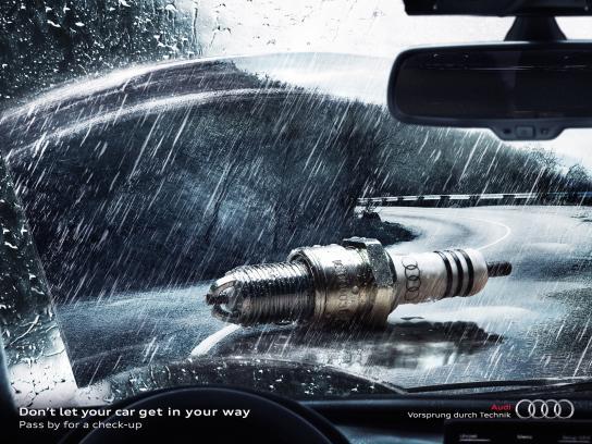 Audi Print Ad -  Spark plug