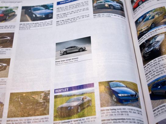 Audi Print Ad -  Enough distance