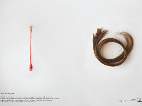 Audi Print Ad -  Gum