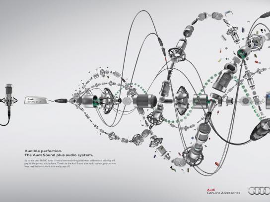 Audi Print Ad -  Microphone