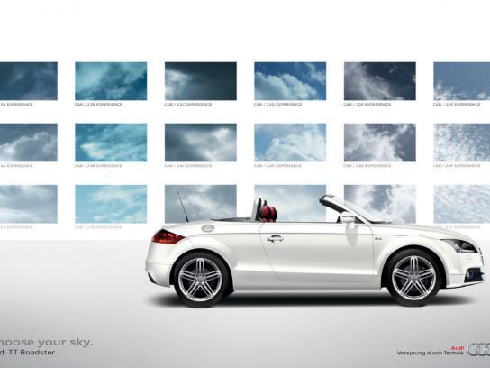 Audi Print Ad -  Choose your sky