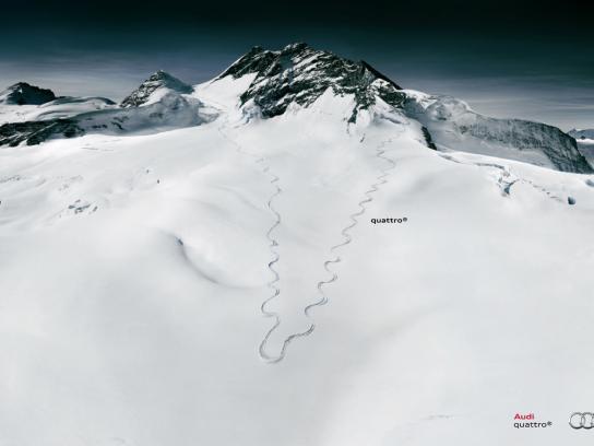 Audi Print Ad -  Skier