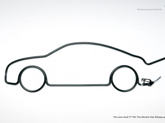 Audi Print Ad -  50mpg