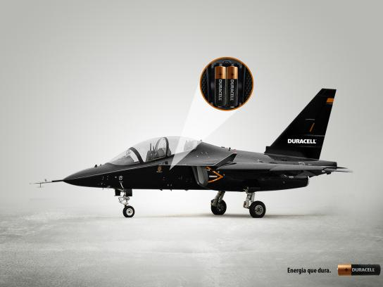 Duracell Print Ad -  Fighter jet