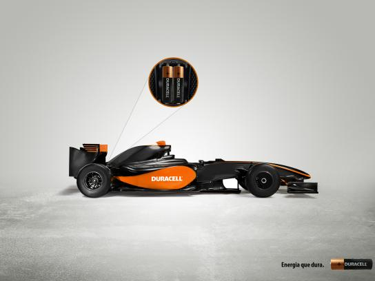 Duracell Print Ad -  F1