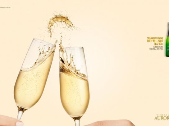 Aurora Wines Print Ad -  Harmonizing, Sparkling