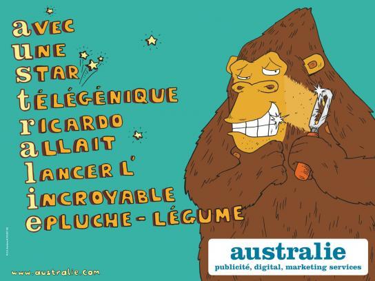 Australie Print Ad -  Monkey
