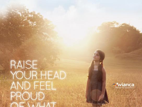 Avianca Print Ad -  Raise your head, 1