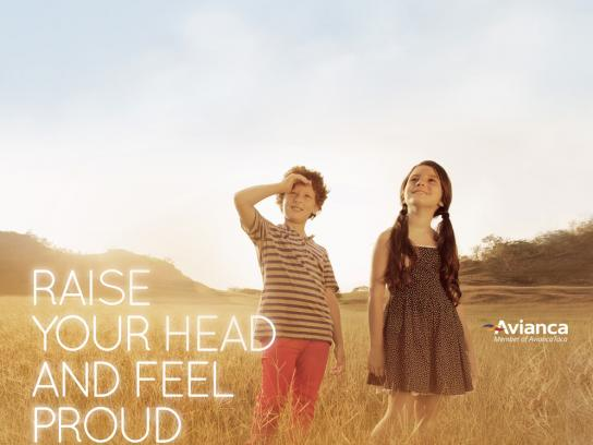 Avianca Print Ad -  Raise your head, 2
