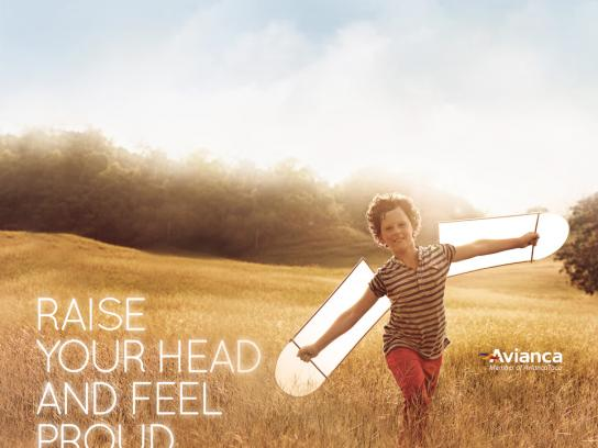 Avianca Print Ad -  Raise your head, 3