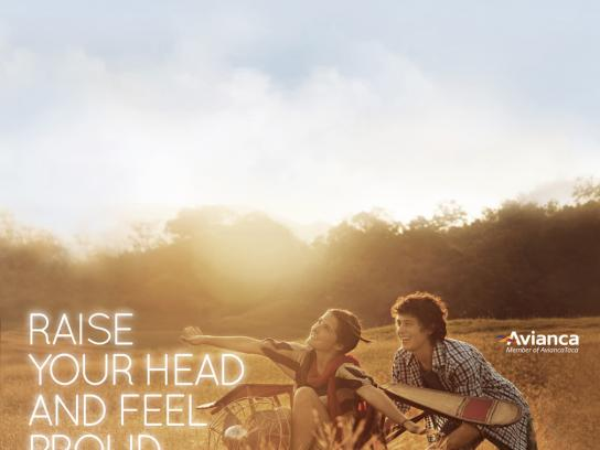 Avianca Print Ad -  Raise your head, 4