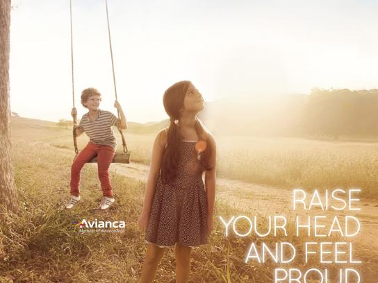 Avianca Print Ad -  Raise your head, 5