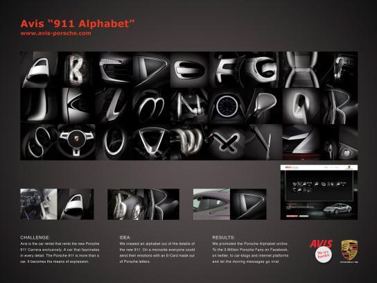 Avis Digital Ad -  Porsche 911 alphabet