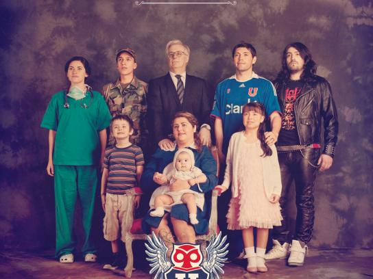 Universidad de Chile Football Club Print Ad -  One Single Family, 1