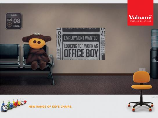 Vahume Print Ad -  Office Boy