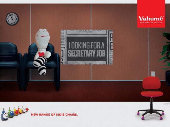 Vahume Print Ad -  Secretary