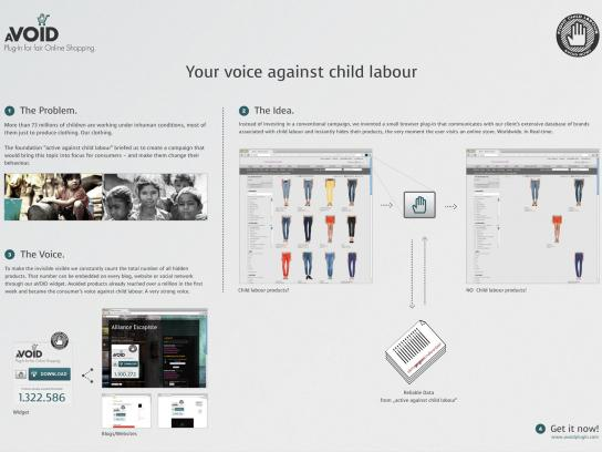 Aktiv Gegen Kinderarbeit Digital Ad -  aVOID Plug-In
