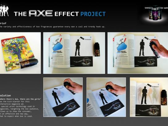 Axe Print Ad -  Effect Project